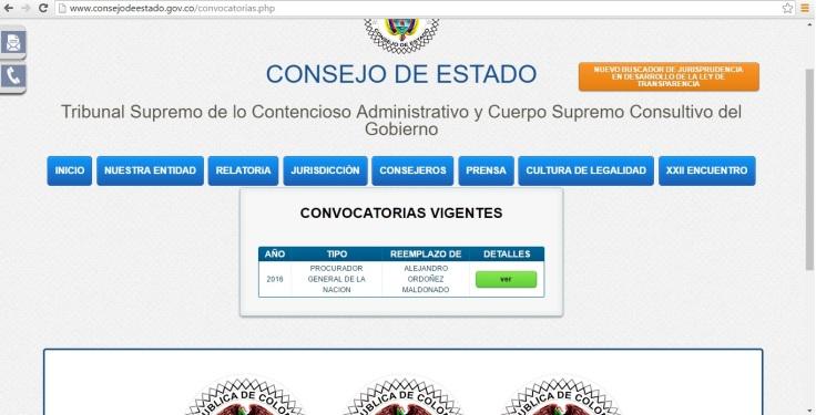Consejo de Estado Procurador convocatoria