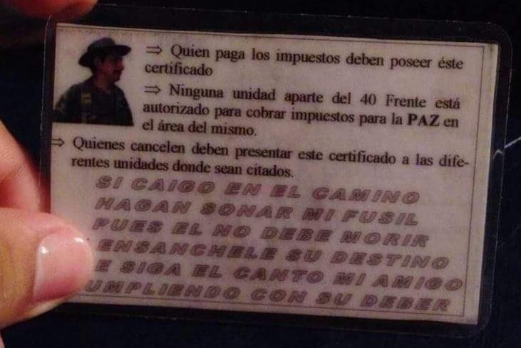 FARC GUAVIARE Y META