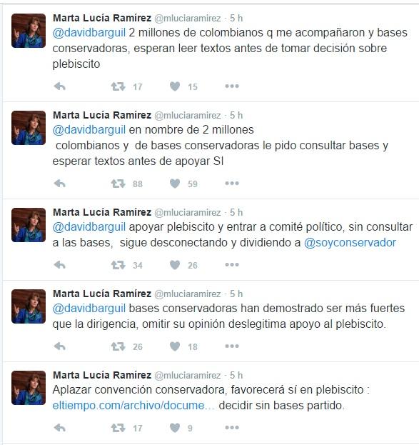 Marta Lucía Ramírez - A Barguil