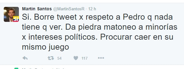 martin santos borra twit